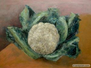 cauliflower on a table
