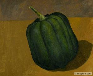A green gourd