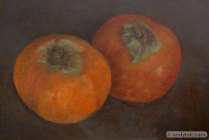 Pair of persimmons