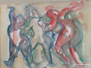 Figures dancing